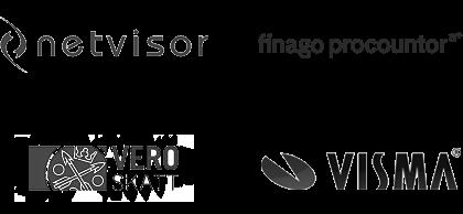 Logot: Netvisor, Procountor, Vero, Visma